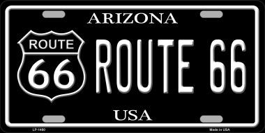 Route 66 Arizona Metal Novelty License Plate